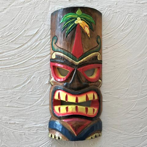 12in Palm Tree Tiki Mask