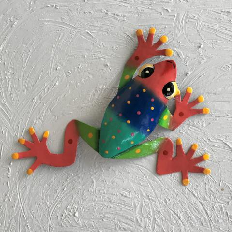 13in Ebbie Tree Frog Metal Wall Decor by Caribbean Rays