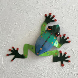 13in Zack Tree Frog Metal Wall Decor by Caribbean Rays