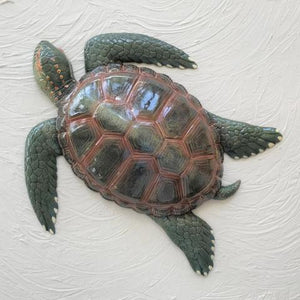 15in Resin Dark Brown Sea Turtle Wall Decor by Caribbean Rays
