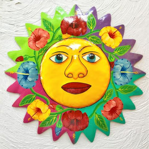 18in Hibiscus Caribbean Metal Sun Wall Decor by Caribbean Rays