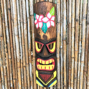 20in Hawaiian Floral Tiki Mask by Caribbean Rays