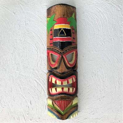 20in Key West Tiki Mask by Caribbean Rays