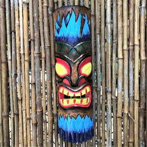 20in Blue Flame Tiki Mask
