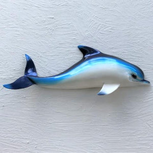 28in Resin Blue Dolphin Wall Decor by Caribbean Rays