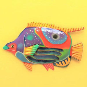 36in Metal Butterfly Fish Wall Decor by Caribbean Rays