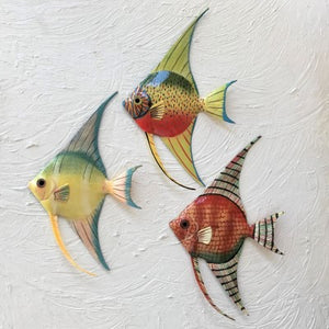 3pc  8in Resin Long Fin Angelfish by Caribbean Rays