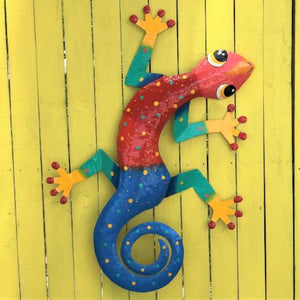XL Fernando Metal Gecko Wall Decor