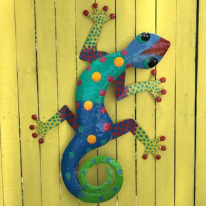 XL Isabela Metal Gecko Wall Decor