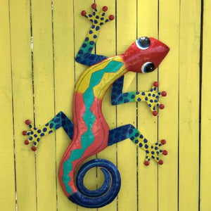 XL Lo Lee Metal Gecko Wall Decor by Caribbean Rays