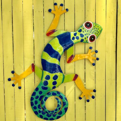 XL Oliver the Metal Gecko Wall Decor
