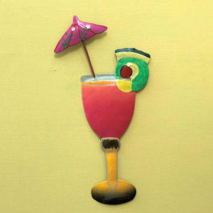 Metal Mai Tai Tropical Drink Wall Decor