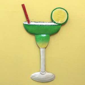 44in XLG Metal Margarita Tiki Bar Wall Accent by Caribbean Rays