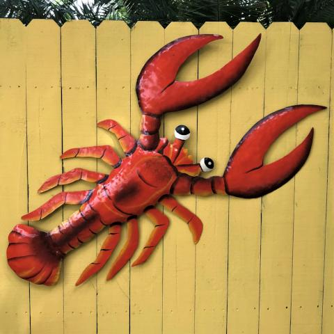 44in Metal Red Lobster Wall Art by Caribbean Rays