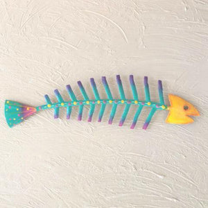 44in Yellow Head Bare Bones Metal Fish by Caribbean Rays