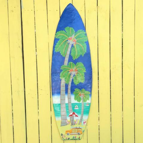 45in Metal Surfboard Wall Art by Caribbean Rays