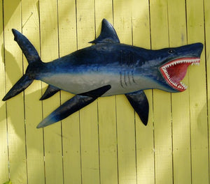 46in Metal Shark Wall Art by Caribbean Rays
