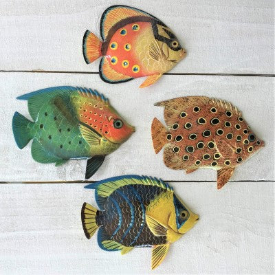 4pc  6in Resin Tropical Fish Set 3 by Caribbean Rays
