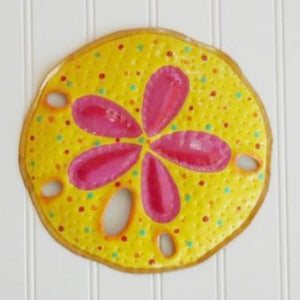 Metal Yellow Sand Dollar Wall Decor