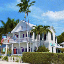 Conch House Canvas Giclee Print Wall Art by Caribbean Rays