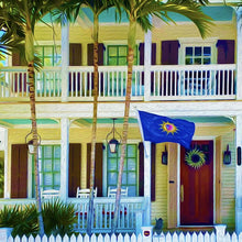 Conch Republic Canvas Giclee Print Wall Art by Caribbean Rays