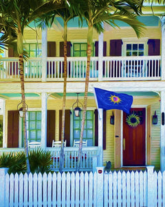 16x20 Conch Republic Canvas Giclee Print Wall Art by Caribbean Rays