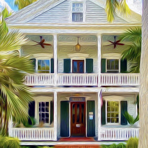 Double Porch Canvas Giclee Print Wall Art by Caribbean Rays