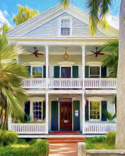 16x20 Double Porch Canvas Giclee Print Wall Art by Caribbean Rays