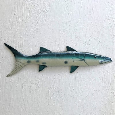 Metal 28in Barracuda Wall Art