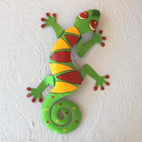 Abbie Metal Gecko Wall Decor by Caribbean Rays