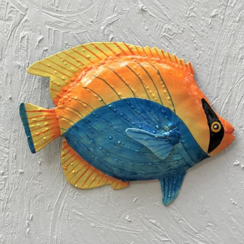 Metal Bandit Fish Wall Accent by Caribbean Rays