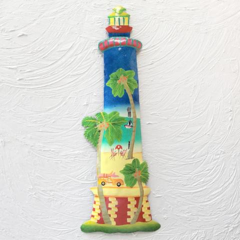 Metal Beach Island Lighthouse Wall Decor by Caribbean Rays