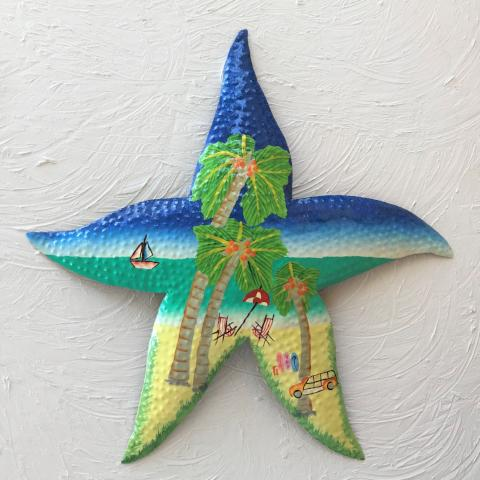 Metal Beach Starfish Wall Accent by Caribbean Rays