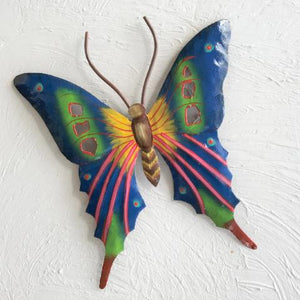 Metal Navy Blue Butterfly Wall Decor by Caribbean Rays