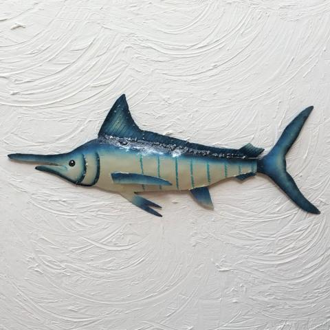 Metal Blue Marlin Wall Art by Caribbean Rays