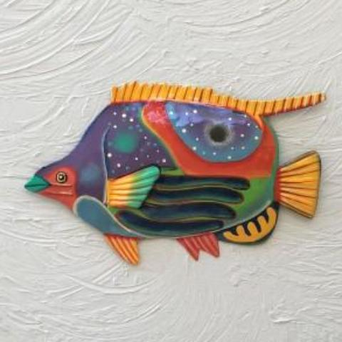 Metal Butterfly Fish Wall Decor by Caribbean Rays