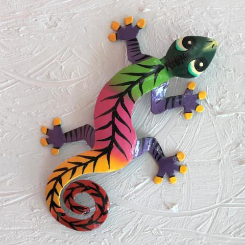Cosmo Metal Gecko Wall Decor by Caribbean Rays