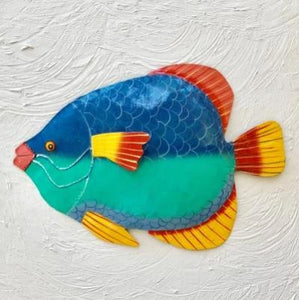 18in Metal Damsel Fish Wall Decor by Caribbean Rays