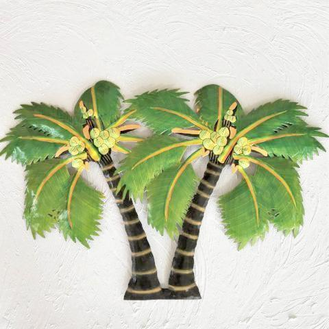 23in Metal Double Canary Palm Tree Wall Decor by Caribbean Rays