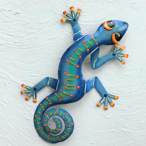 Fast Franky Metal Gecko Wall Decor by Caribbean Rays