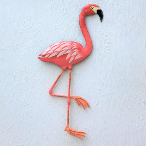 Metal Flamingo Wall Decor by Caribbean Rays
