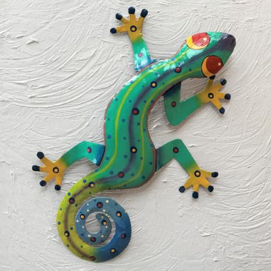 Gilbert Metal Gecko Wall Decor by Caribbean Rays