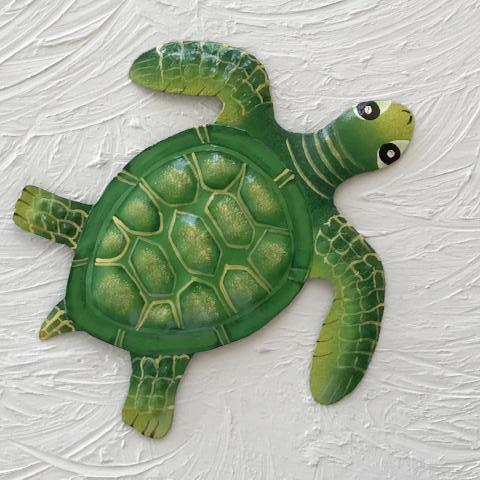 Metal GreenBaby Sea Turtle Wall Decor