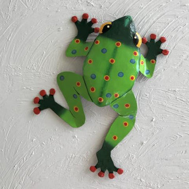 Metal Green Dancing Frog Wall Decor by Caribbean Rays
