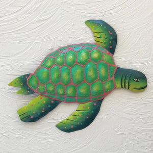 Metal Green Sea Turtle Wall Art by Caribbean Rays