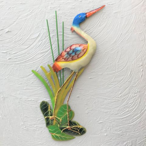Metal Heron Wall Decor by Caribbean Rays