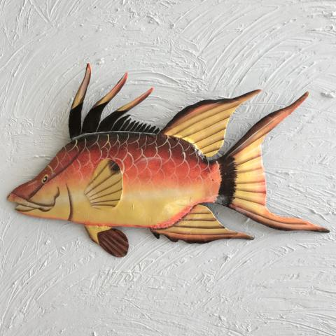 Metal Hogfish Wall Art