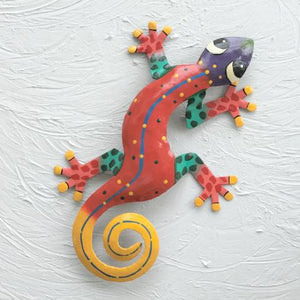 Izzy the Metal Gecko Decor by Caribbean Rays