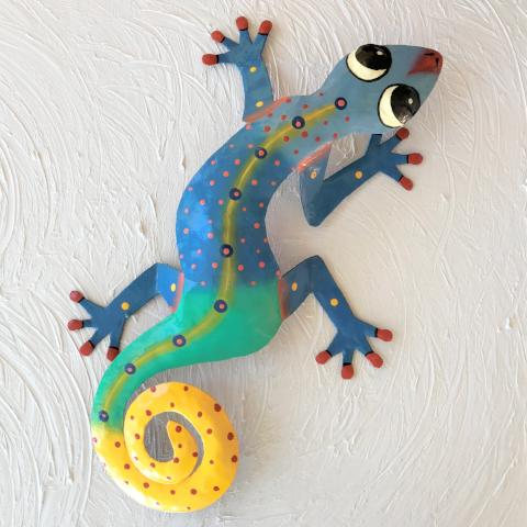 Jumping Jake Metal Gecko Wall Decor by Caribbean Rays