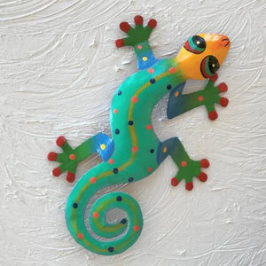 Kenny Metal Gecko Wall Decor by Caribbean Rays